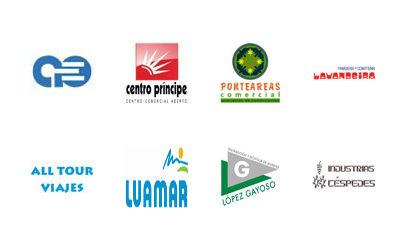 Panadería Lavandeira - López Gayoso - Industrias Céspedes - All Tour Viajes - Luamar - Centro Príncipe - Ponteareas Comercial - Asociación de Empresarios de Val Miñor